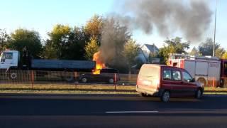 Wypadek na ul.Popiołuszki w Białymstoku pożar auta 2017 Video