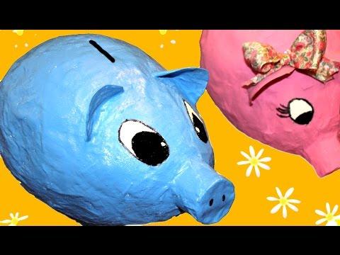 Cómo hacer una hucha, o alcancia, con globos
