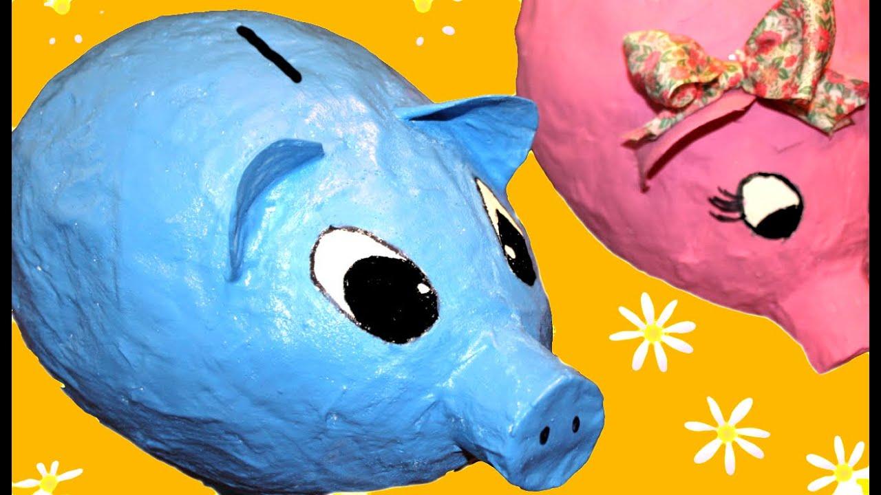 C mo hacer una hucha o alcancia con globos doovi - Como hacer una hucha ...