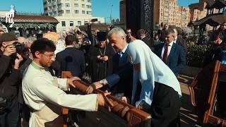 Патриарх Кирилл и мэр Москвы С.С. Собянин посетили фестиваль «Пасхальный дар»