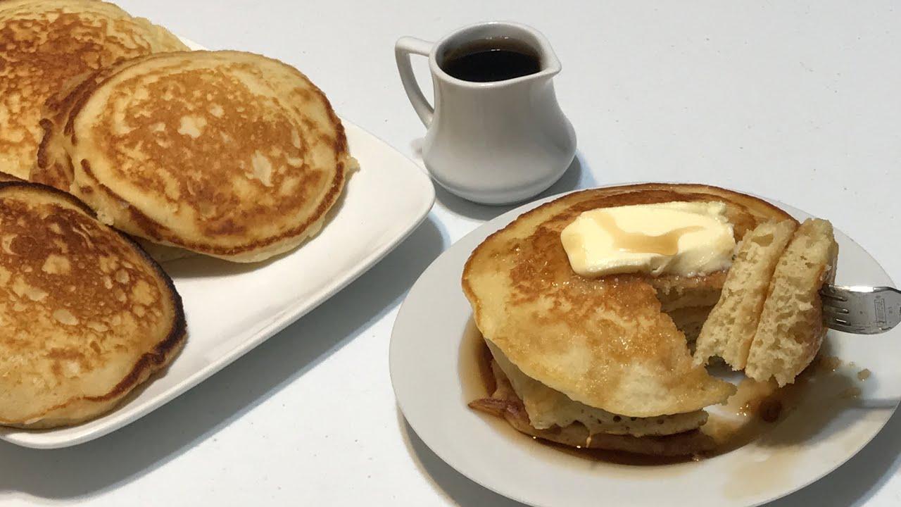 Receta de Pancakes 🥞 Caseros Esponjosos / Pastel La MoreliAna