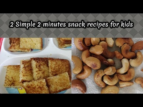 2 Simple - 2 Minutes snack recipes for kids in Tamil/ Travel food/ Healthy snack recipes