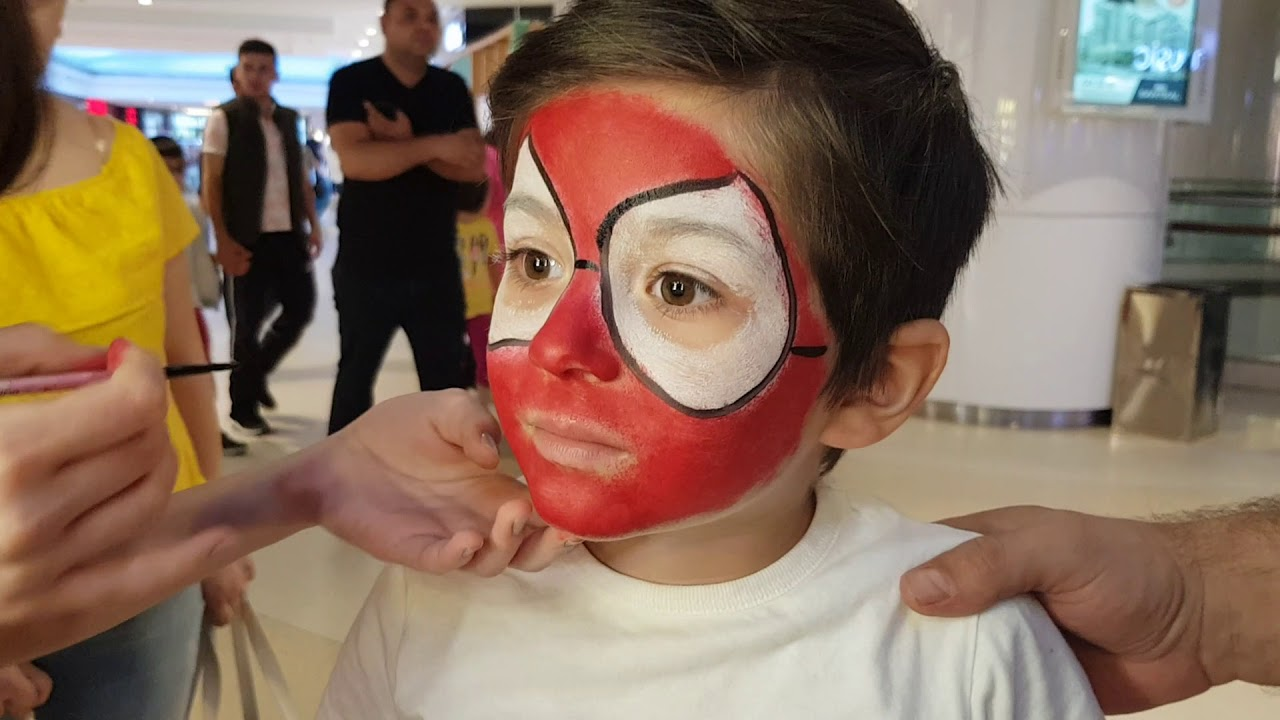 Orumcek Adam Yuz Boyama Spiderman Face Paint Youtube