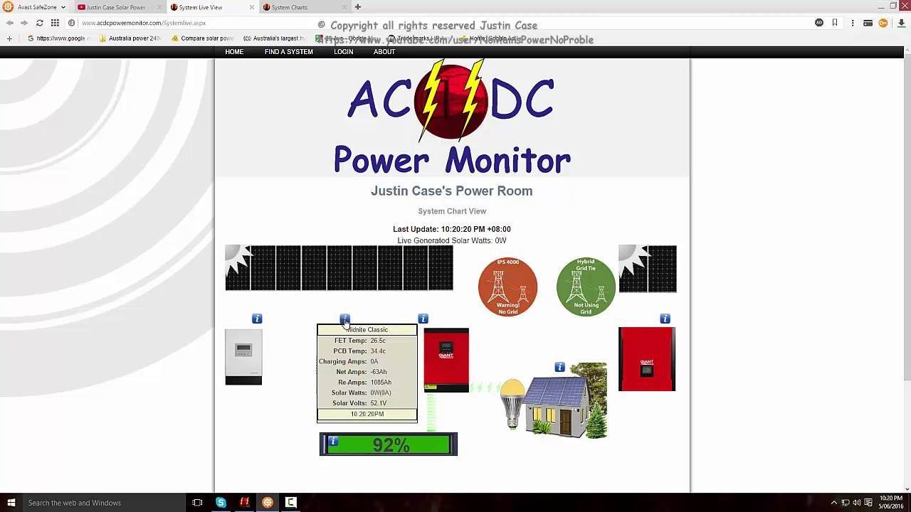 Demand Energy Monitoring Software : Volt off grid system ac dc power monitor software