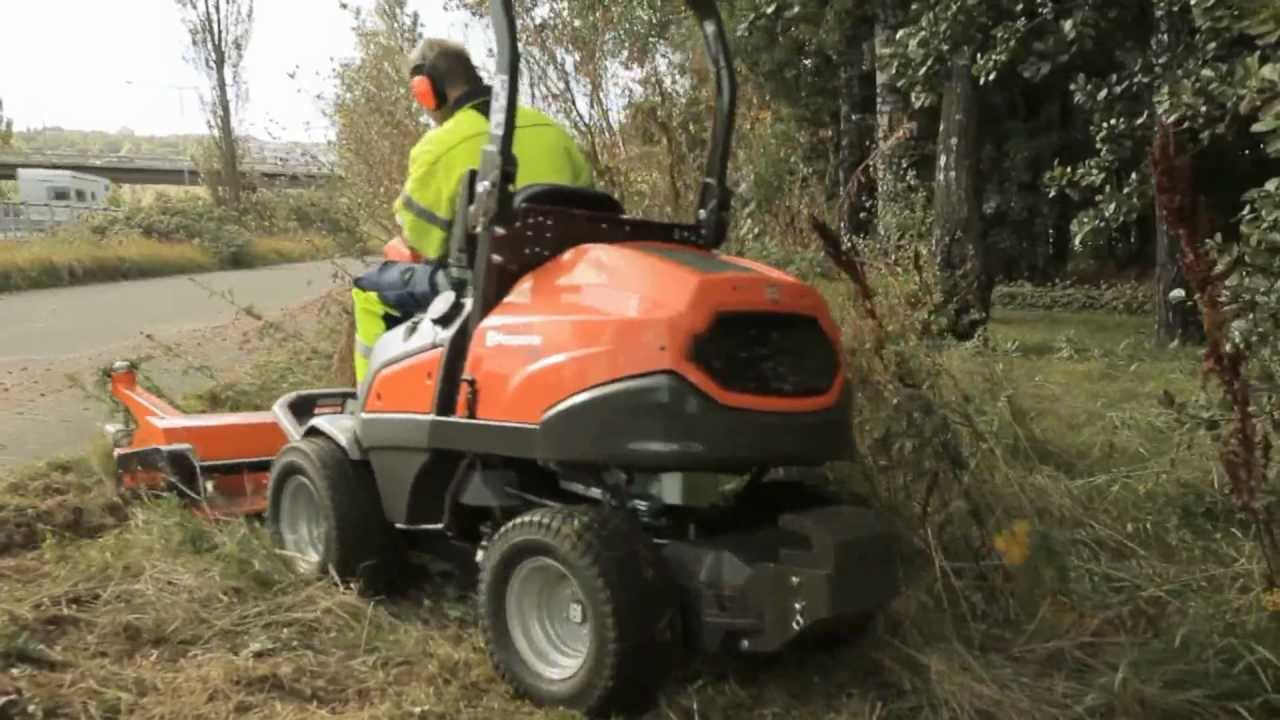 Husqvarna P 525d Flail Mower In Action