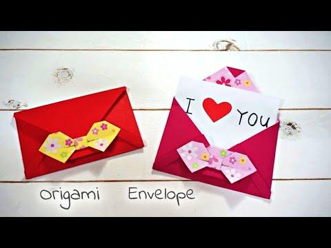 Origami Envelope / Paper Envelope :: 색종이로 편지 봉투 접기 / 리본 종이 봉투 만들기