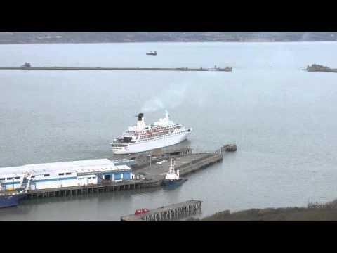 MV DISCOVERY LEAVES PORTLAND PORT