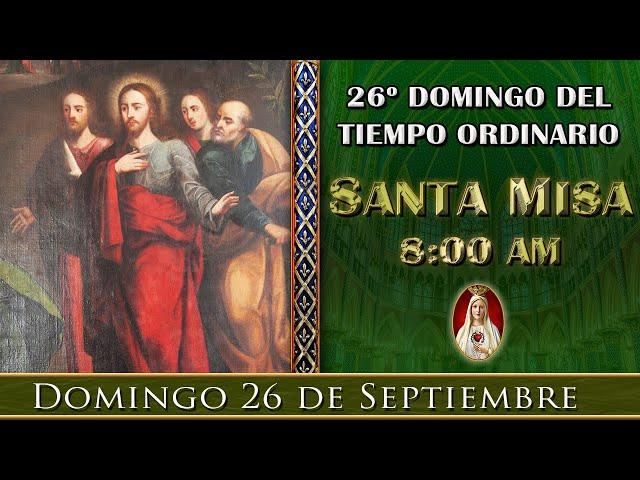 ⛪Rosario y Santa Misa ⚜️ Domingo 26 de Septiembre 09:30 a.m. Caballeros de la Virgen