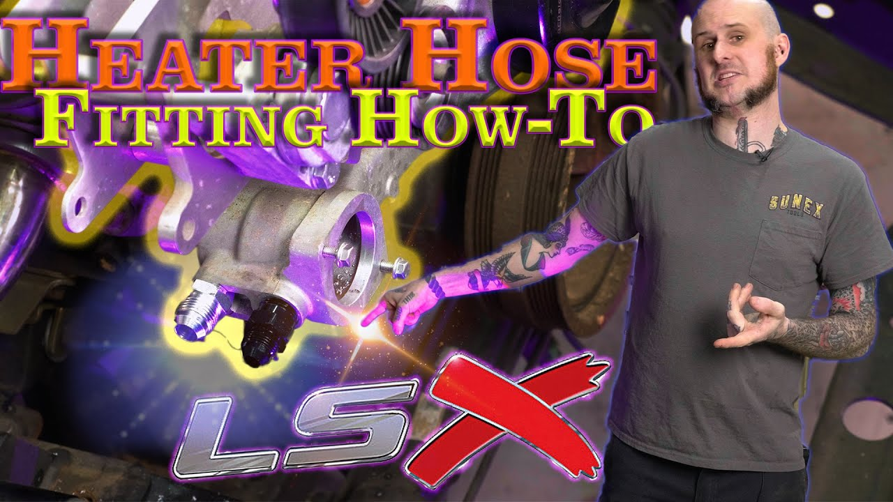 LS Heater Port Tapping - HOW TO - LSx Water Pump AN Fittings