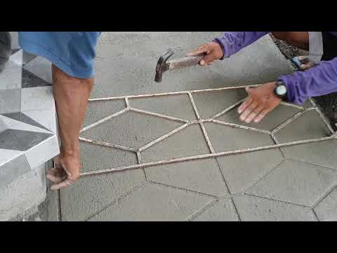 How to stamp/mould concrete cement flooring