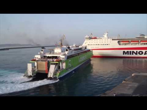 High speed ferry with impressive docking maneuvers