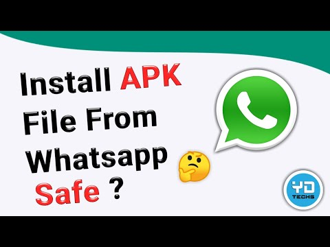 How To Send APK File via Whatsapp in Hindi | Send Document | Unknown Source APK Install safe or not.