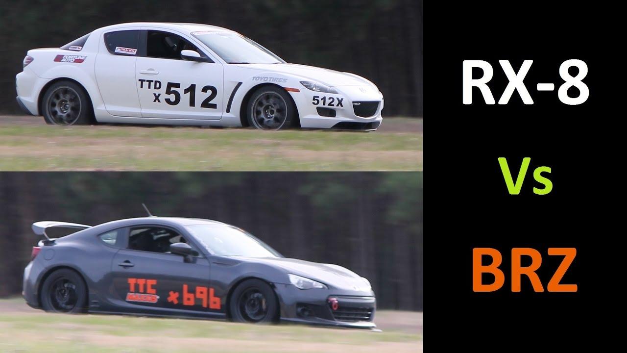 Mazda Rx 8 Vs Subaru Brz Track Battle At Vir Youtube
