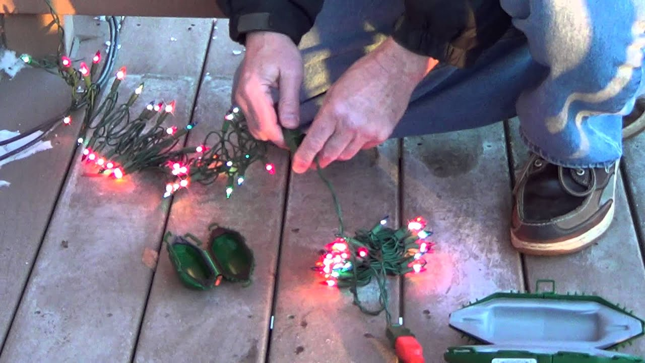 How Fix Christmas Lights When Half Are Out