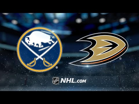 Sabres defeat Ducks, 3-1, for first win