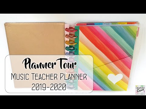 Music Teacher Planner Tour 2019-2020 #planmywholelife Organized Chaos