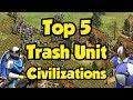 Top 5 Trash Unit Civs