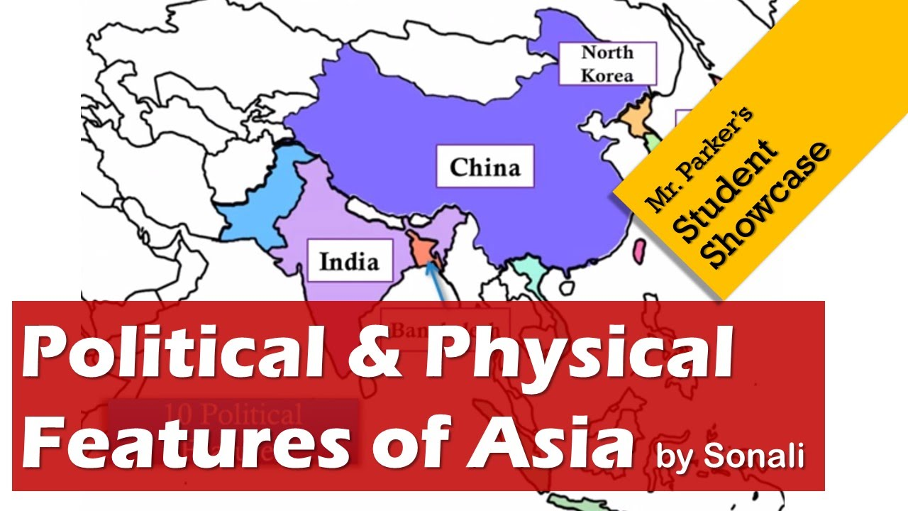 political physical features of southern eastern asia