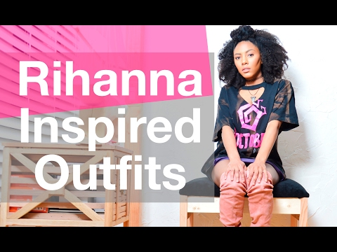 THRIFT Shopping + DIY    Rihanna Inspired Outfits    Chanel Oldham
