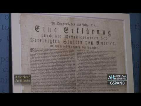 Rare 1776 German Language printing of the Declaration of Independence