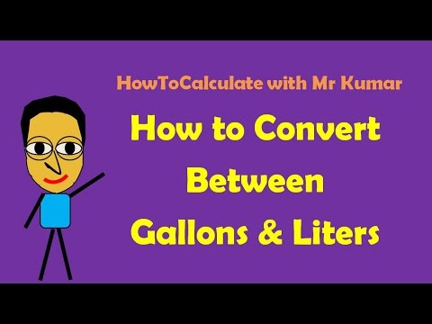 How To Convert Gallons And Liters