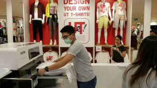 Uniqlo Customize Your Own T Shirt in Central World Bangkok