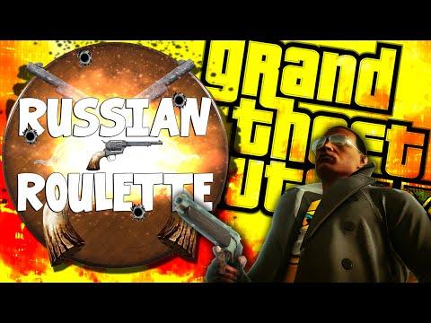 GTA V: Russian Roulette Funny Moments (GTA V Mods Funny Moments)