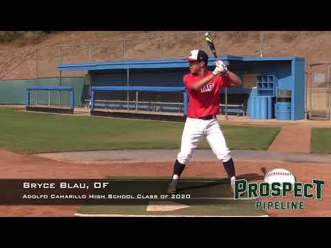 Bryce Blau Prospect Video, OF, Adolfo Camarillo High School Class of 2020