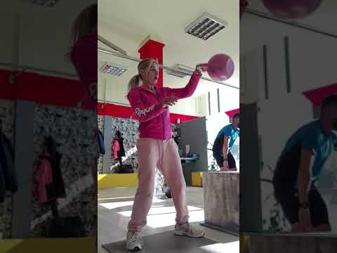 Kettlebell training warm up with swings
