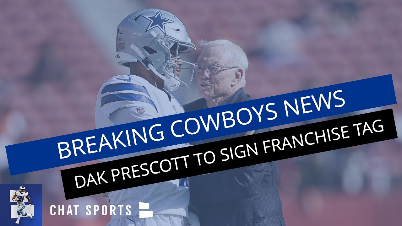 Report: Dak Prescott signs franchise tender with Cowboys