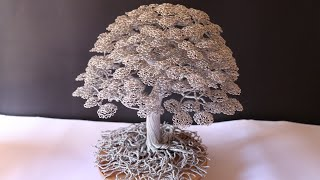 Bonsai Wire Tree Tutorial) Cara Membuat Bonsai BERINGIN Dari KAWAT ALUMINIUM
