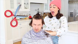 GIVING MY HUSBAND A HAIRCUT!