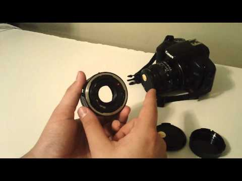 How to enable manual aperture adjustment on Canon FD Lenses