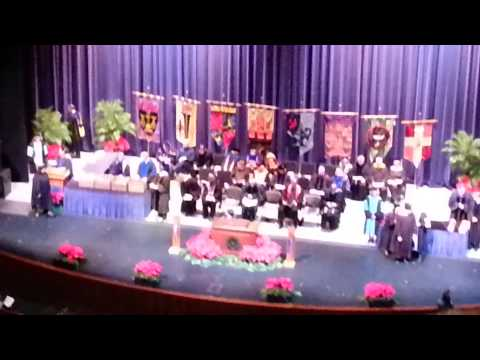 Delisa walks across stage for specialist degree