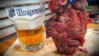 A German pork dish called Schweinshaxe. [ENG Sub] (Korean Food Mukbang Drinking Review)