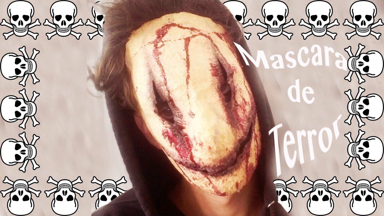 tutorial mascara de terror - youtube