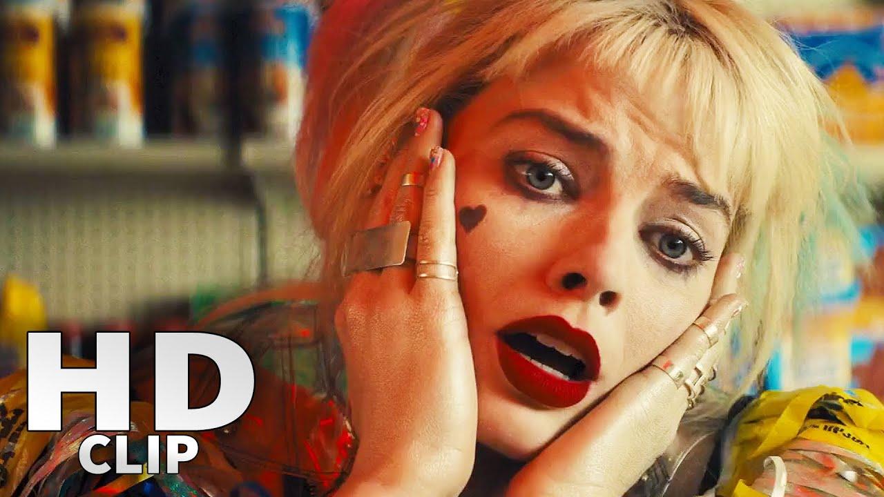 Harley Quinn Birds Of Prey Egg Sandwich Chase Scene Youtube