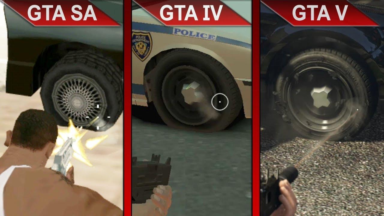 THE BIG GTA COMPARISON 3   GTA SA vs. GTA IV vs. GTA V   PC   ULTRA