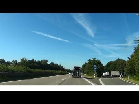 Германия.Автобан А-27. Перевозка Лошадей