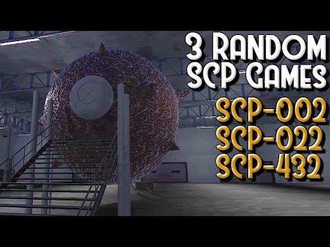 Three Random SCP Games – SCP-002, SCP-022, SCP-432
