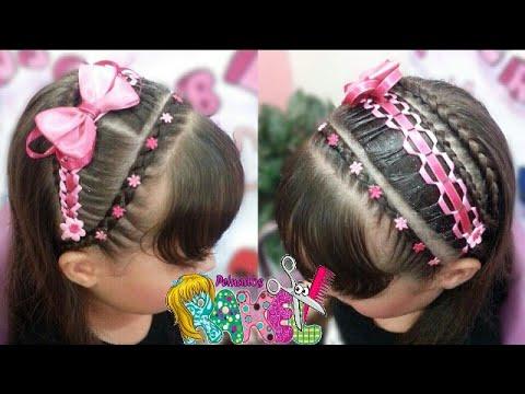 Peinado Infantil Peinado Con Cabello Suelto Y Encintados Faciles