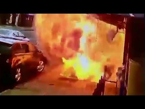 Shocking Video Shows Man Survive NYC Sidewalk Explosion | NBC New York
