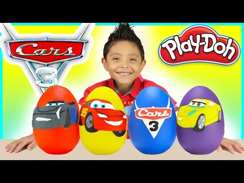Thumbnail: Cars 3 movie Play Doh SURPRISE EGGS BIGGEST Disney Toy Lightning McQueen