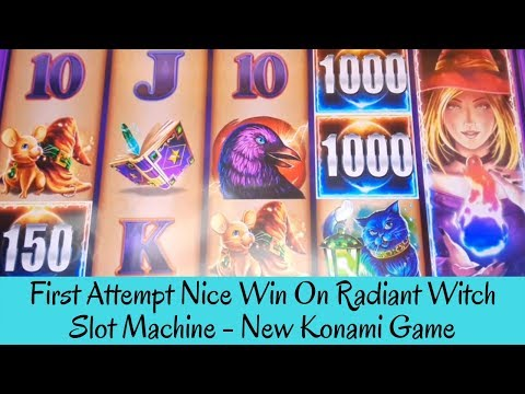 FIRST ATTEMPT NICE WIN ON MONEY GALAXY RADIANT WITCH SLOT - NEW KONAMI GAME - SunFlower Slots