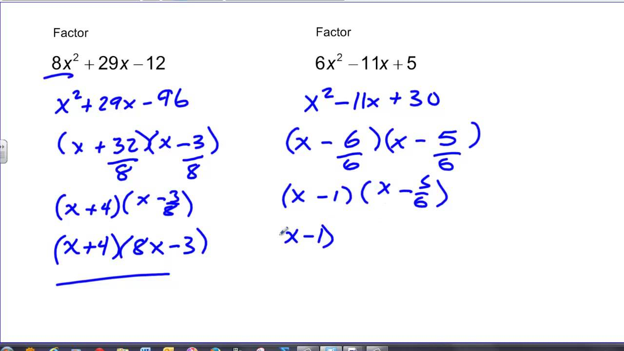 Lesson 21 1 Solving Equations By Factoring X2 Bx C Answers