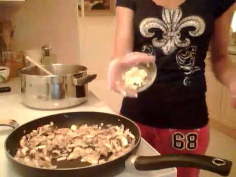 How to Cook Creamy Mushroom Soup - Part 1: Cooking with Kimberly