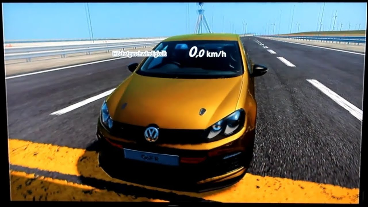 gran turismo 5 volkswagen golf vi r 39 10 top speed test youtube. Black Bedroom Furniture Sets. Home Design Ideas