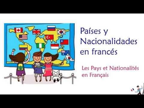 Países Y Nacionalidades En Francés Vocabulario Nacionalidades En Masculino Y Femenino 1 Youtube