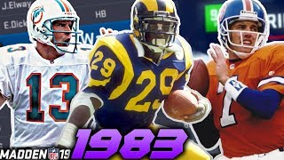 1983 NFL Draft in Madden 19!