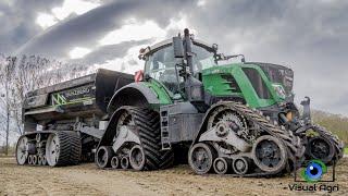 100% chenille pour le transport de terre - Fendt/Benzberg trailer